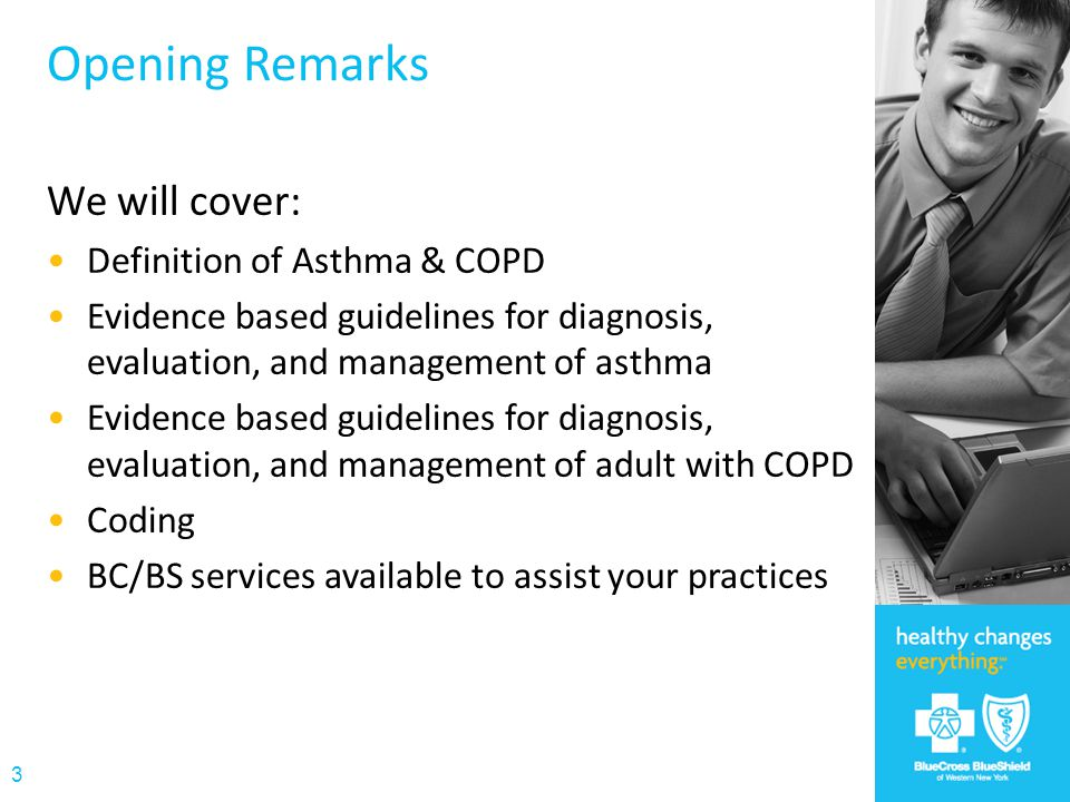 Opening Remarks We will cover: Definition of Asthma & COPD
