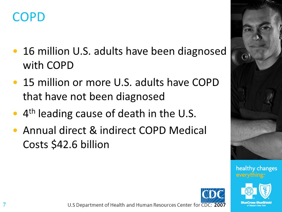 COPD 16 million U.S. adults have been diagnosed with COPD
