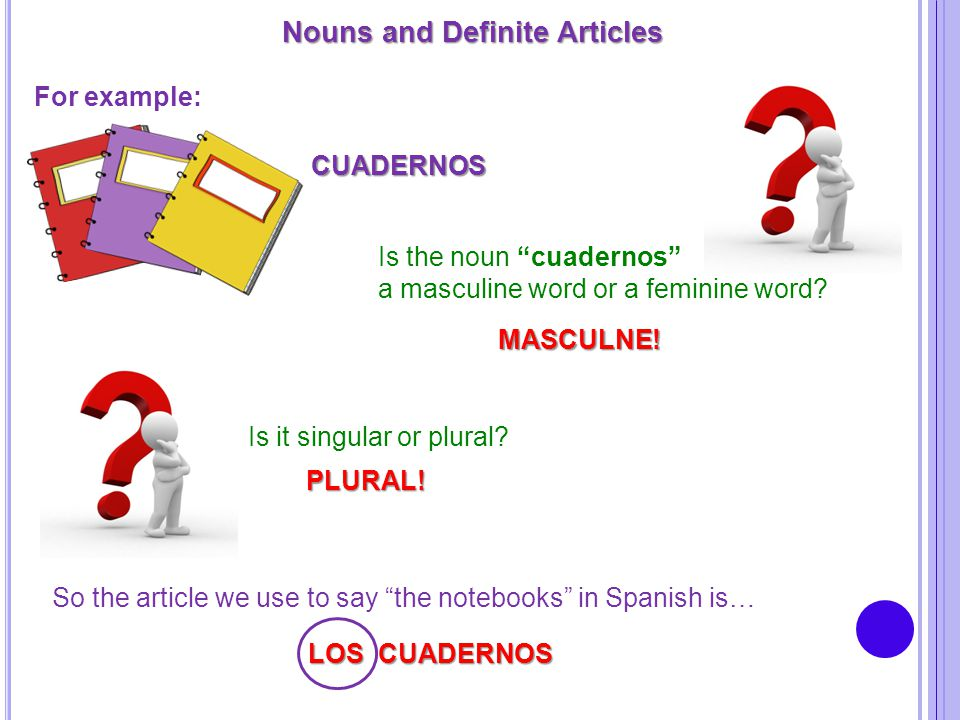 Nouns and Definite Articles