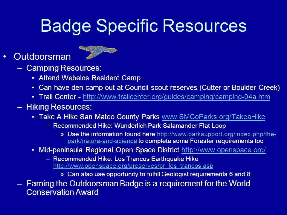 Badge Specific Resources