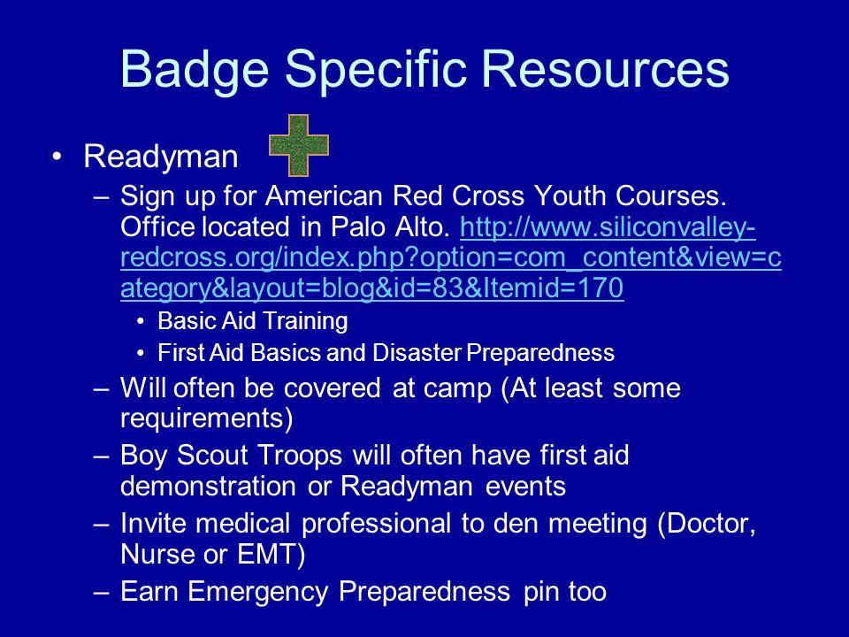 Badge Specific Resources