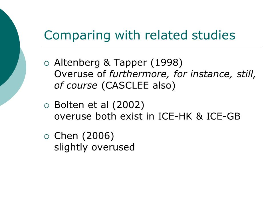 Comparing with related studies