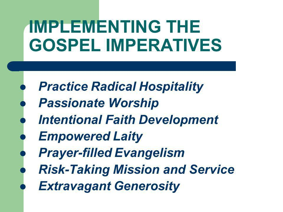 IMPLEMENTING THE GOSPEL IMPERATIVES