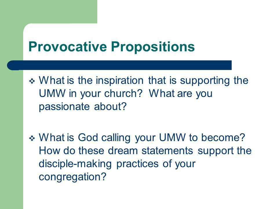Provocative Propositions