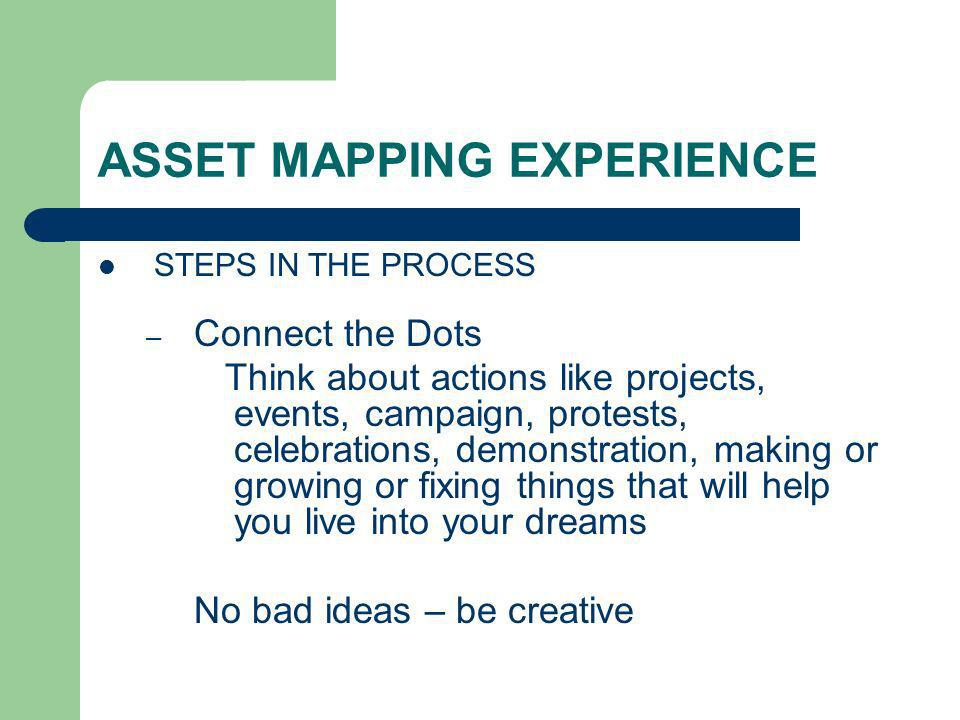 ASSET MAPPING EXPERIENCE