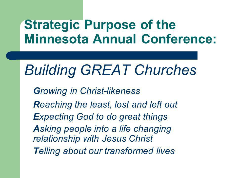 Strategic Purpose of the Minnesota Annual Conference: