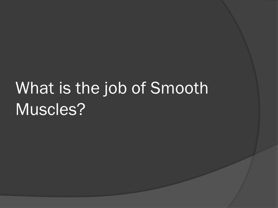 What is the job of Smooth Muscles