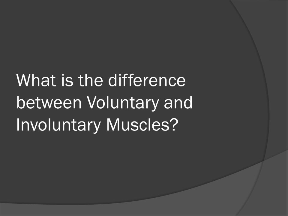 What is the difference between Voluntary and Involuntary Muscles