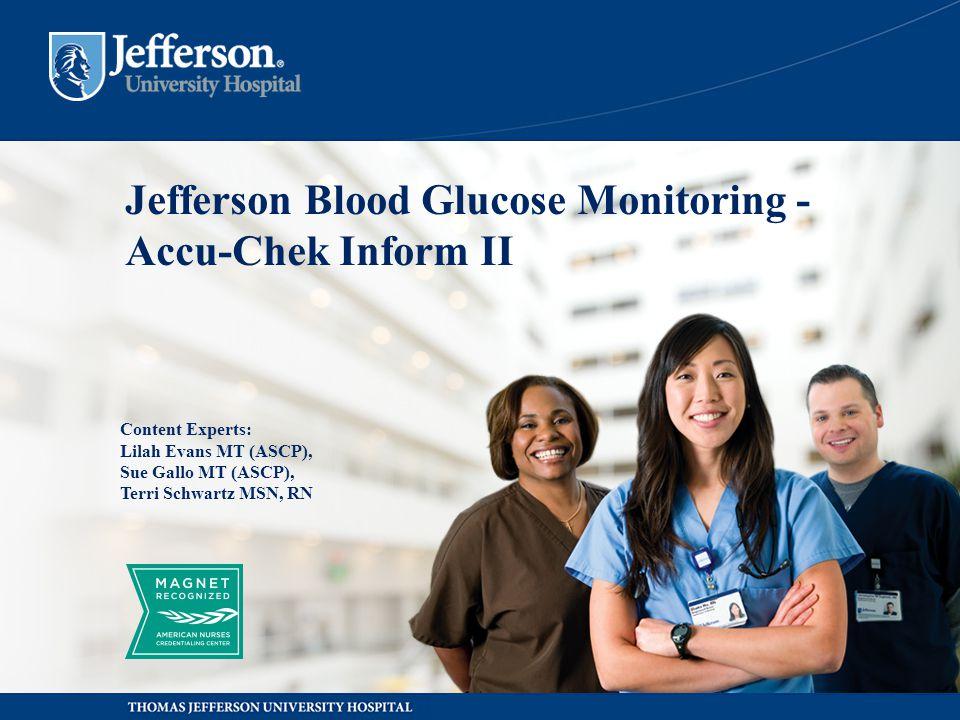 Jefferson Blood Glucose Monitoring -Accu-Chek Inform II