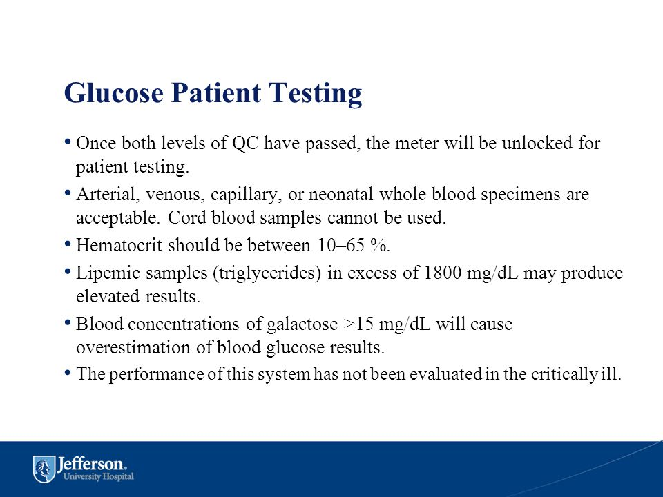 Glucose Patient Testing