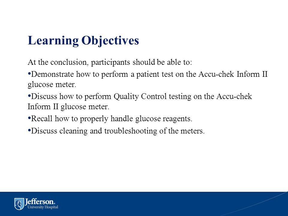 Learning Objectives At the conclusion, participants should be able to: