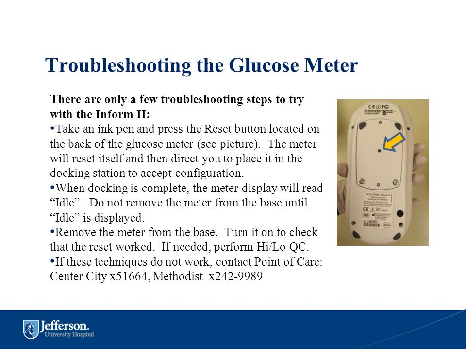 Troubleshooting the Glucose Meter