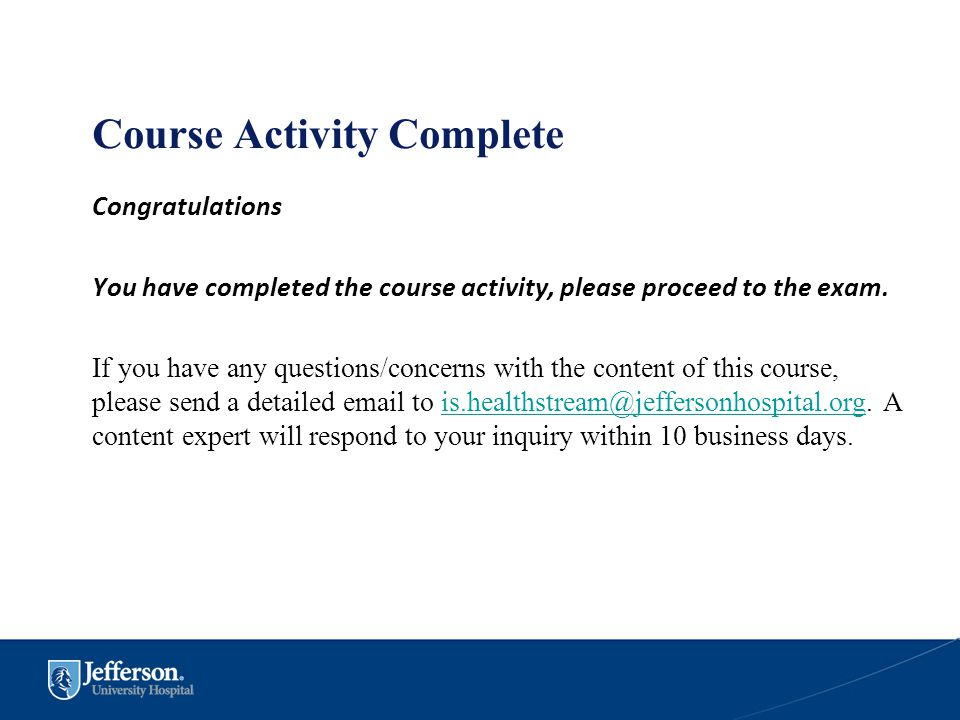 Course Activity Complete