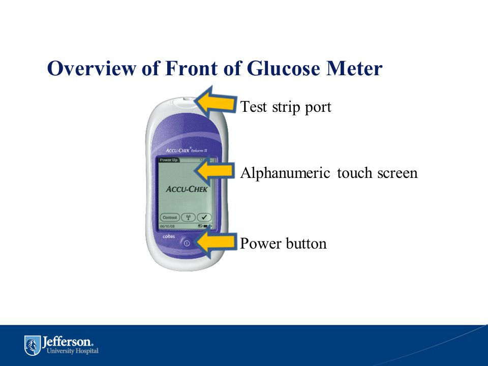 Overview of Front of Glucose Meter