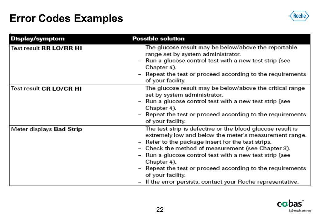 Error Codes Examples .