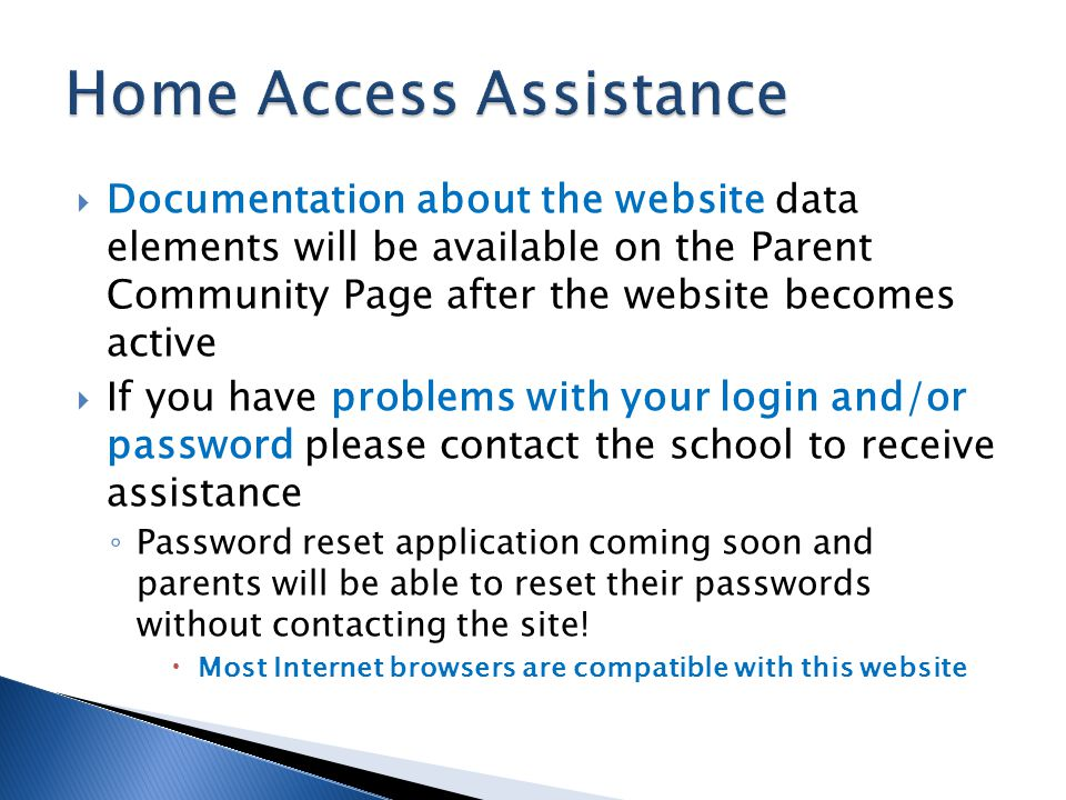 Home Access Assistance