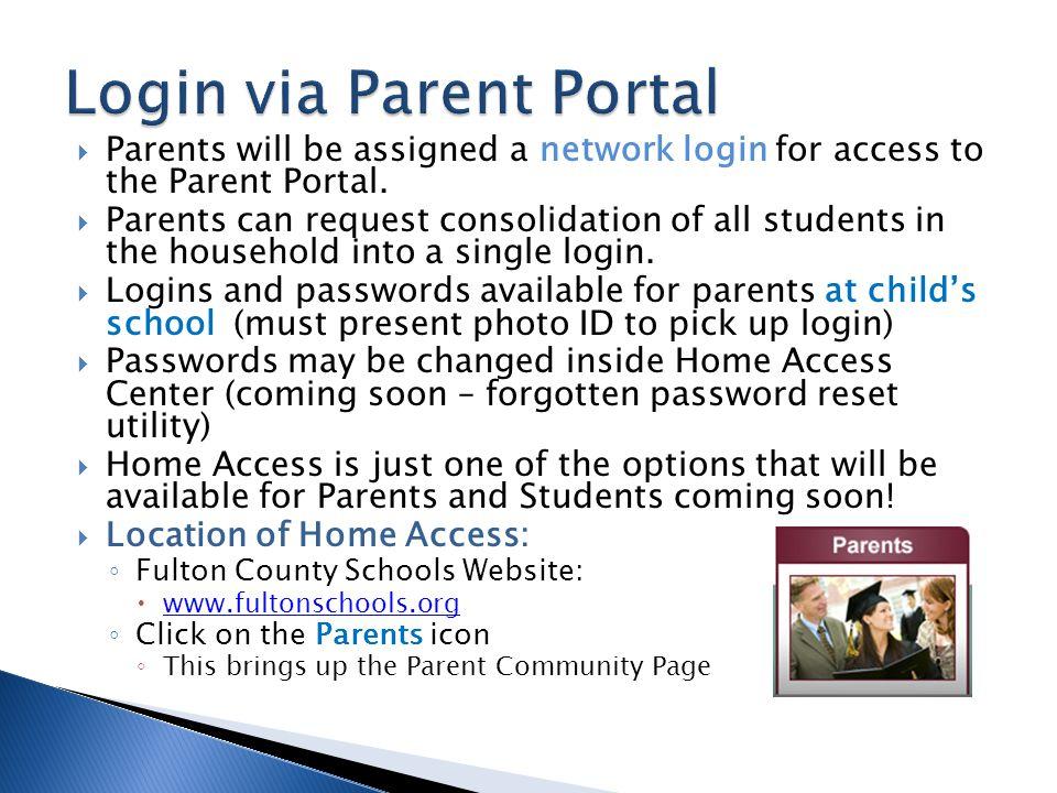 Login via Parent Portal