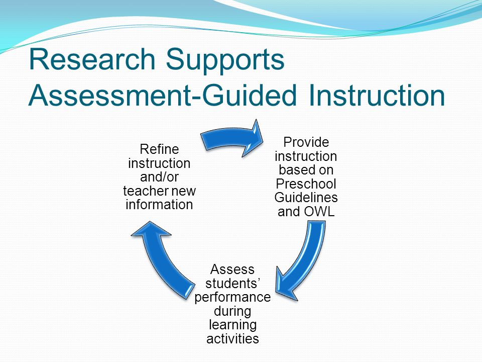 Research Supports Assessment-Guided Instruction