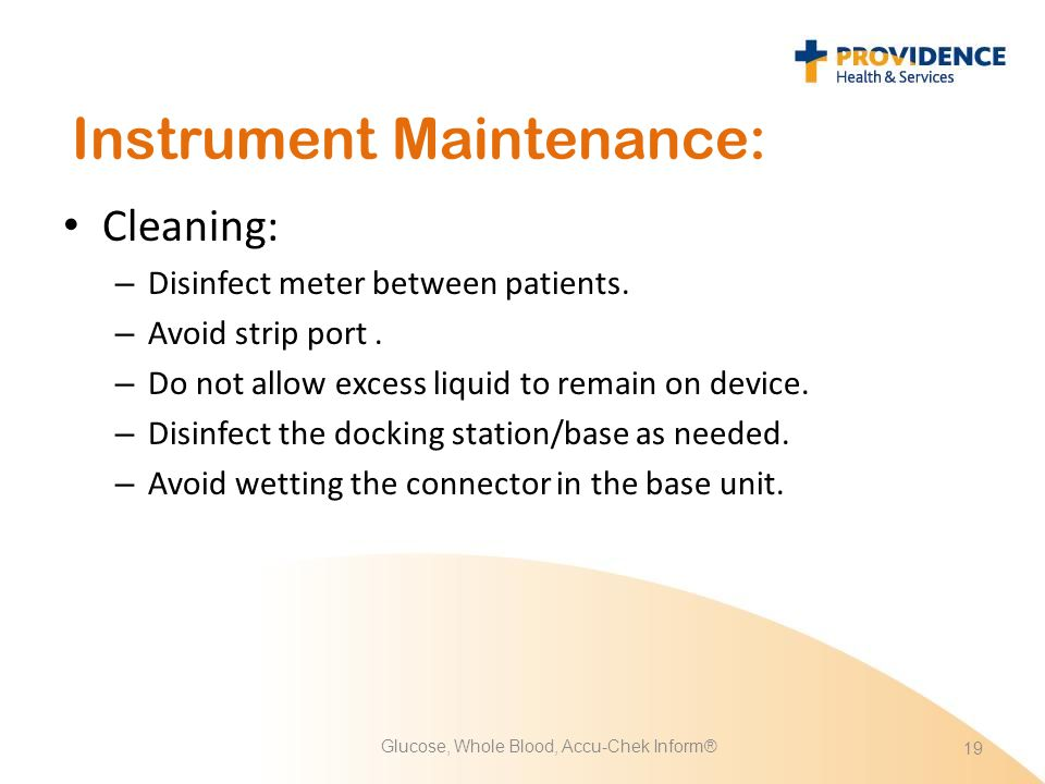 Instrument Maintenance: