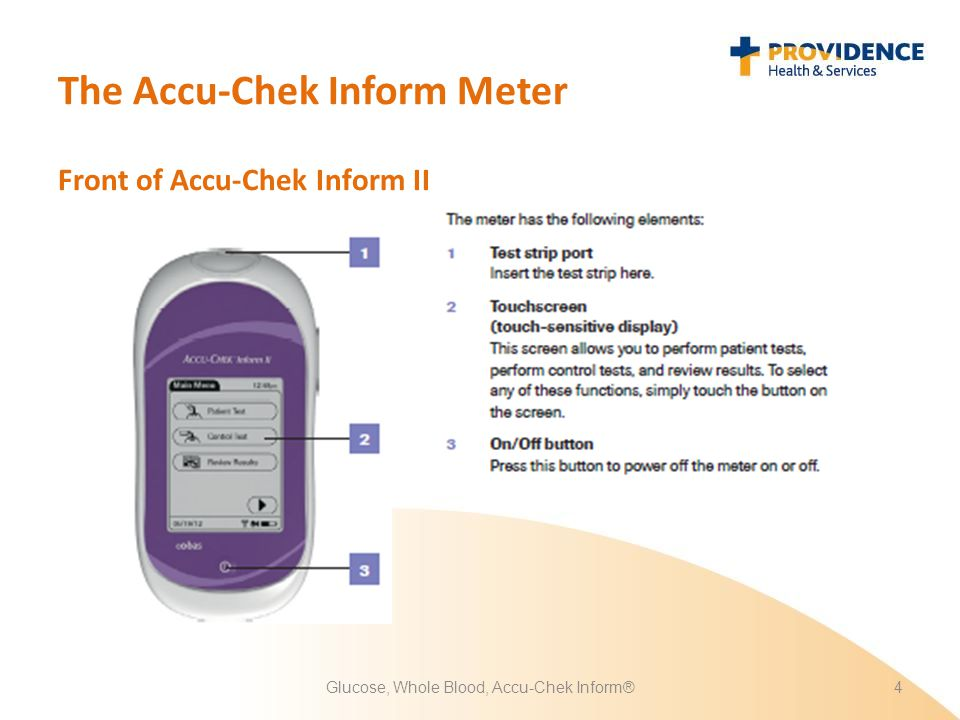 Glucose, Whole Blood, Accu-Chek Inform®