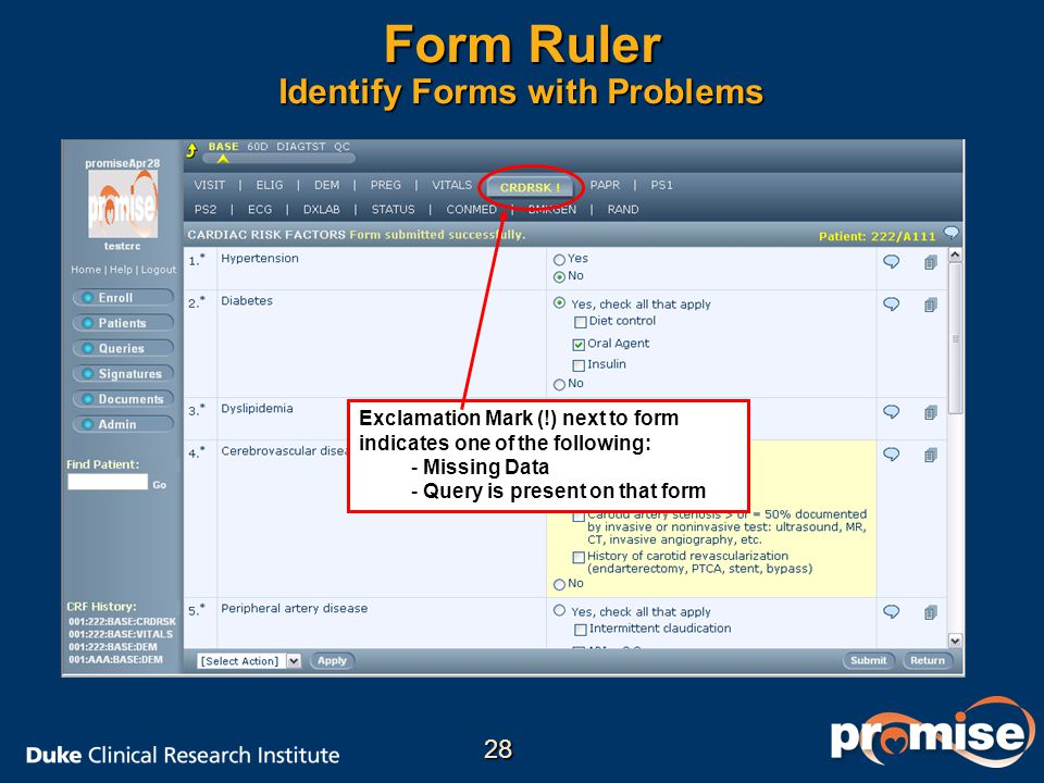 Form Ruler Identify Forms with Problems