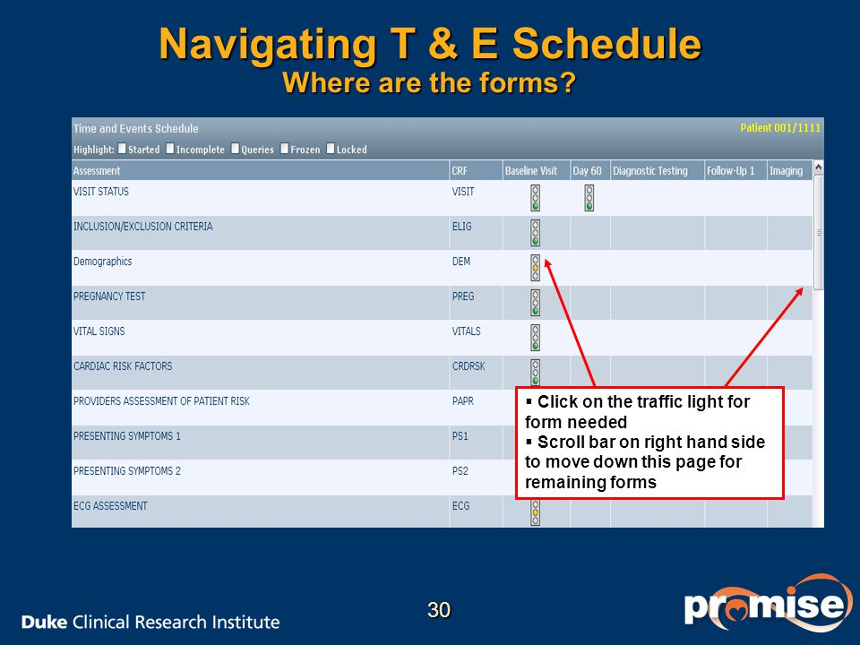Navigating T & E Schedule Where are the forms