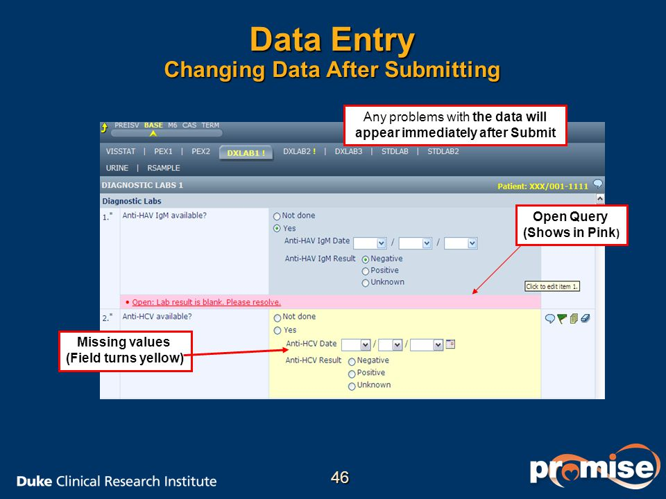 Data Entry Changing Data After Submitting