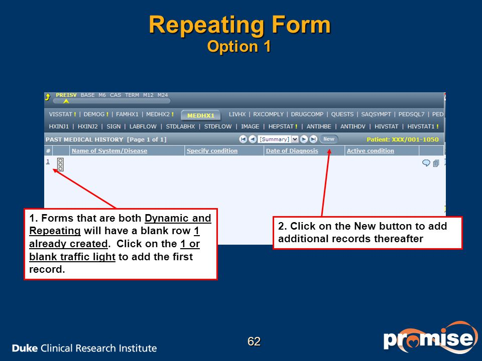 Repeating Form Option 1