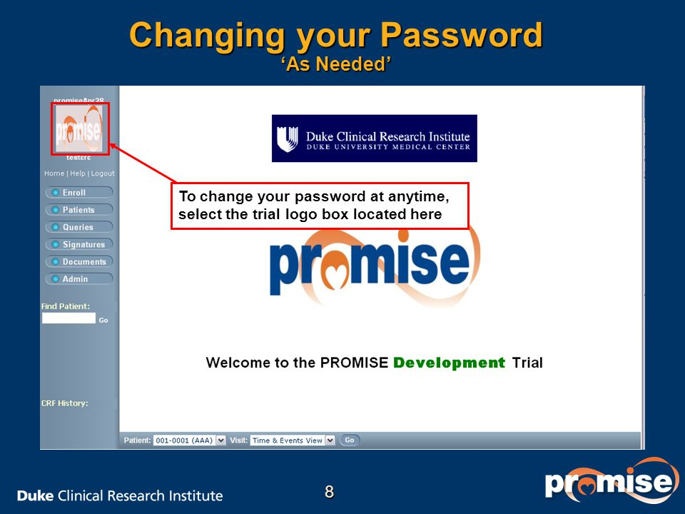 Changing your Password 'As Needed'