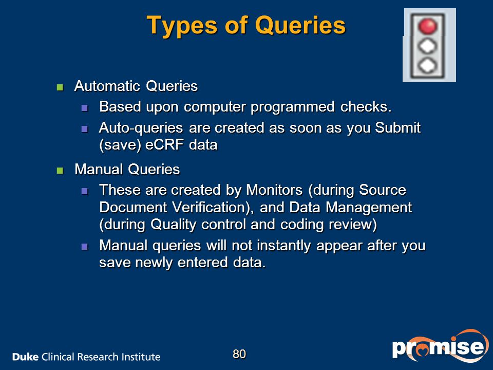 Types of Queries Automatic Queries