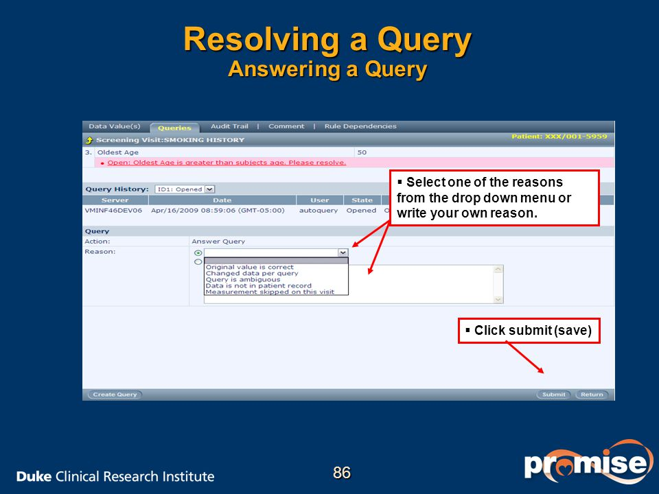 Resolving a Query Answering a Query