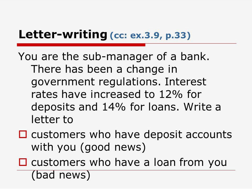 Letter-writing (cc: ex.3.9, p.33)