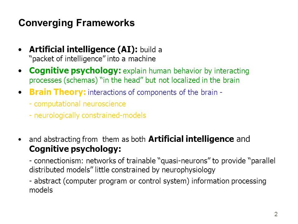 Converging Frameworks