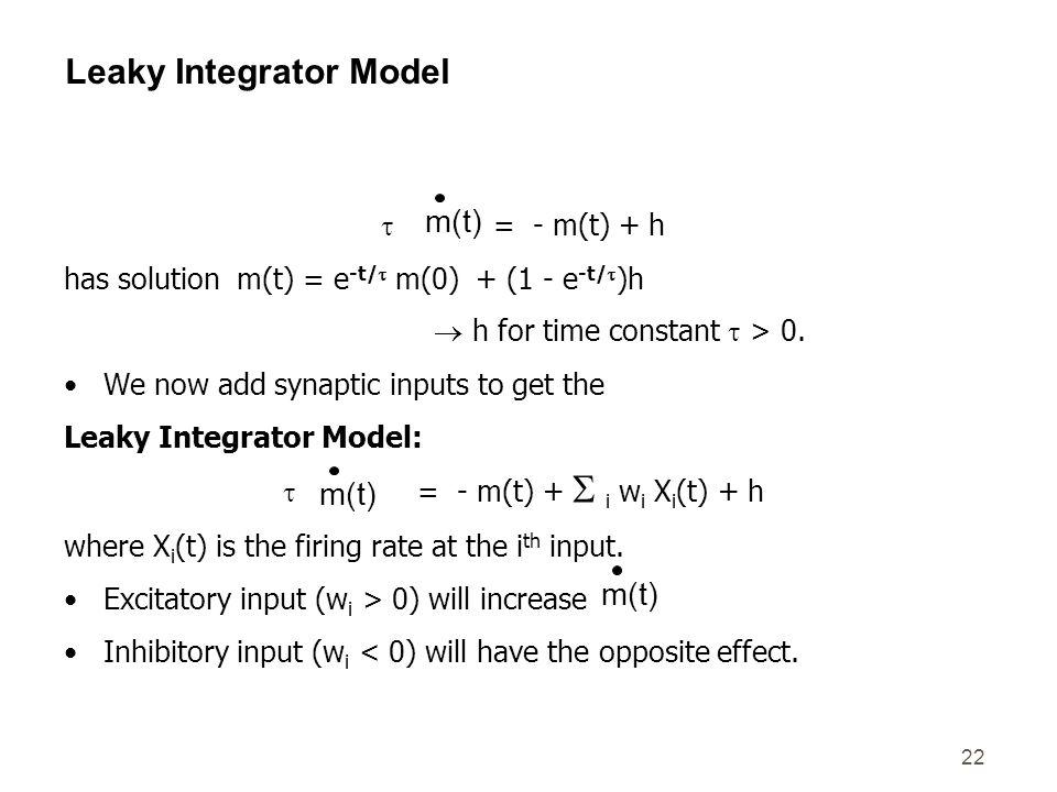 Leaky Integrator Model