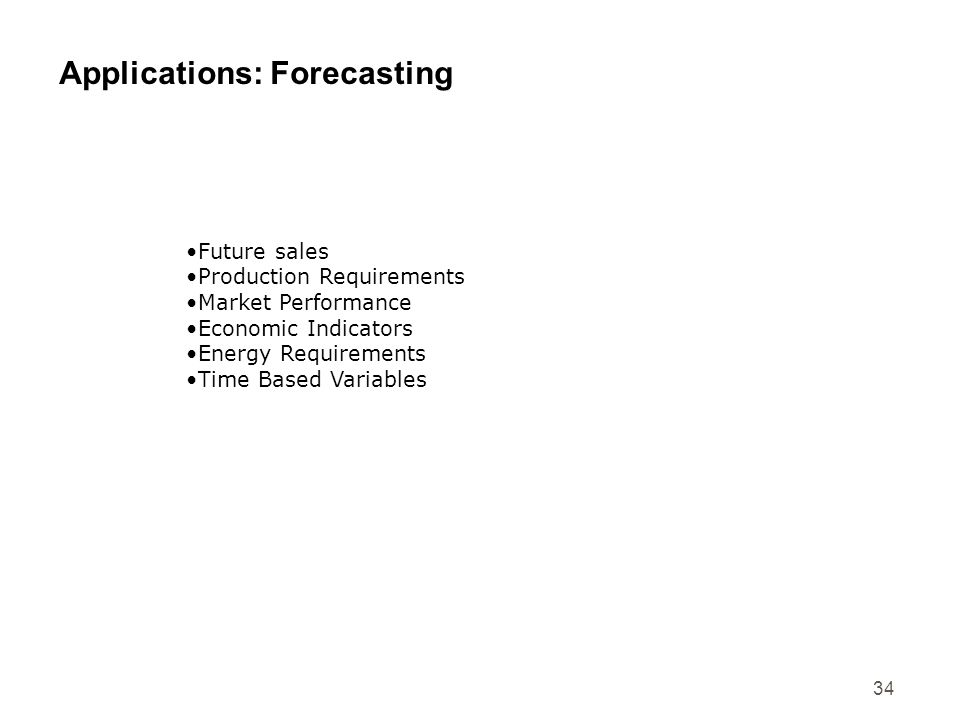 Applications: Forecasting