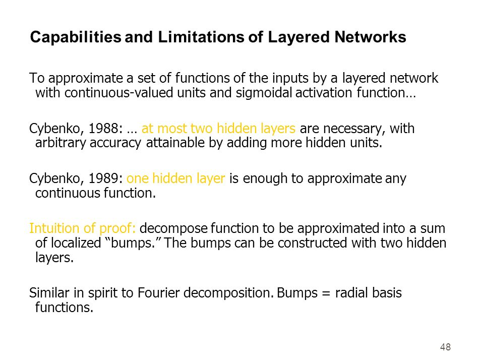 Capabilities and Limitations of Layered Networks