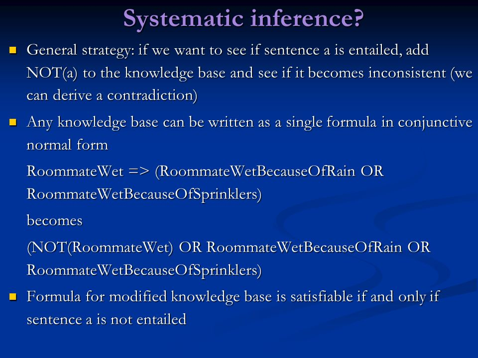 Systematic inference