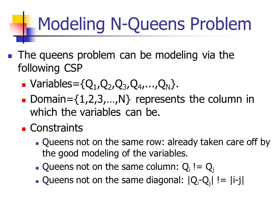 Modeling N-Queens Problem