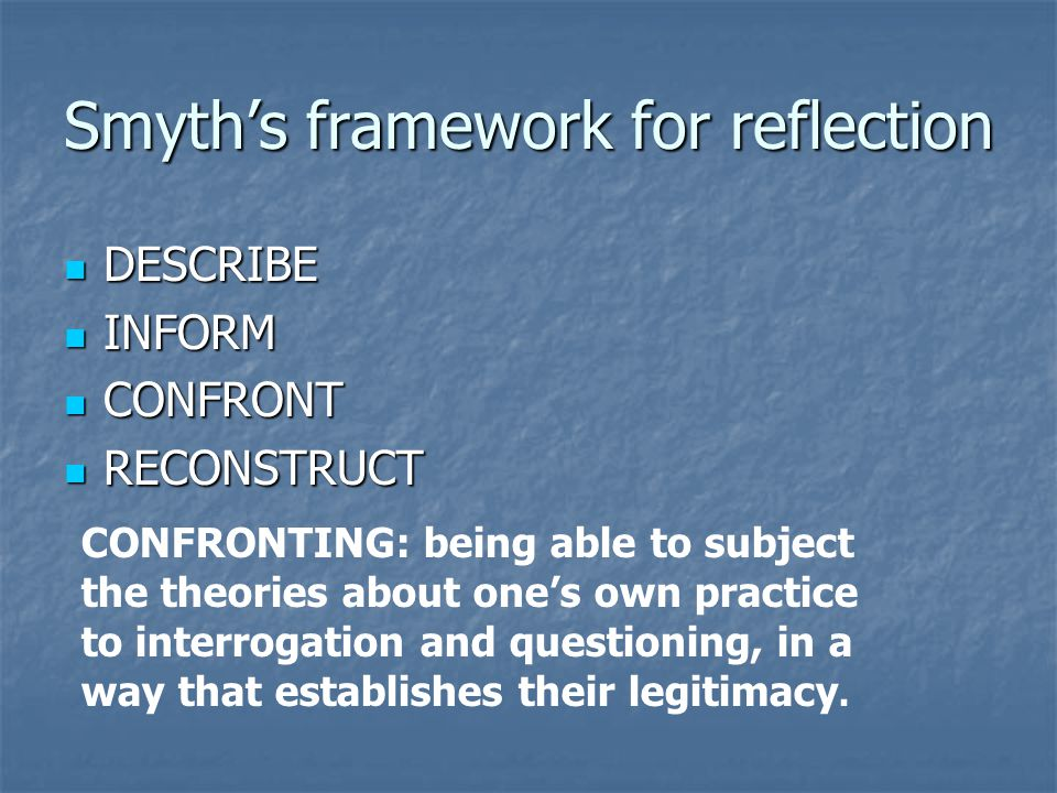 Smyth's framework for reflection