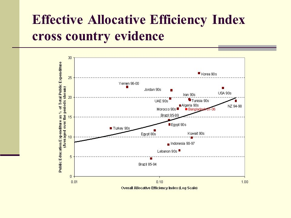 Effective Allocative Efficiency Index cross country evidence