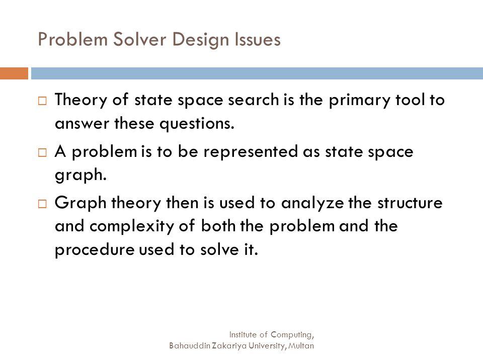 Problem Solver Design Issues