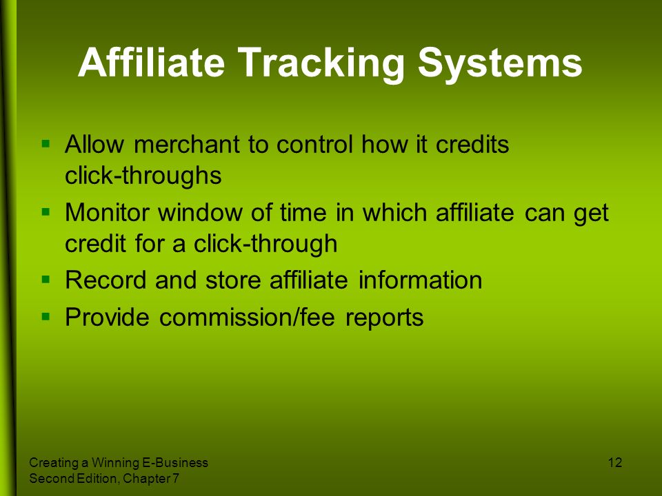 Affiliate Tracking Systems