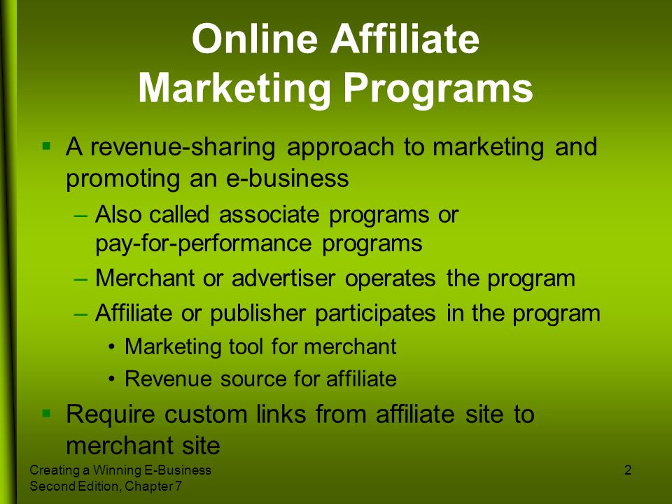 Online Affiliate Marketing Programs