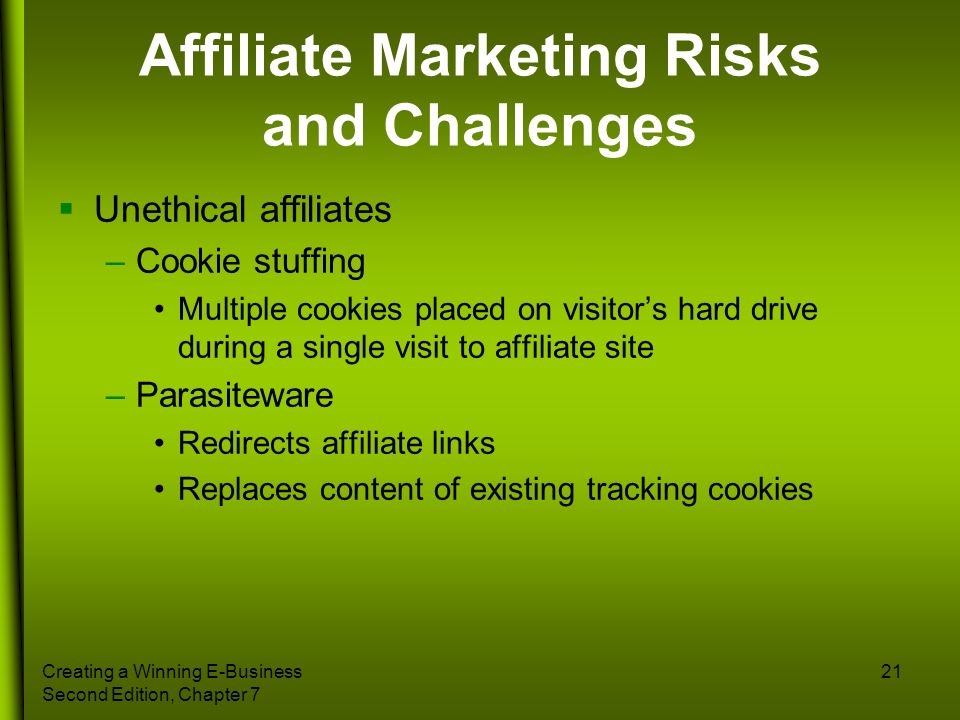 Affiliate Marketing Risks and Challenges