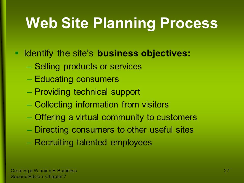 Web Site Planning Process