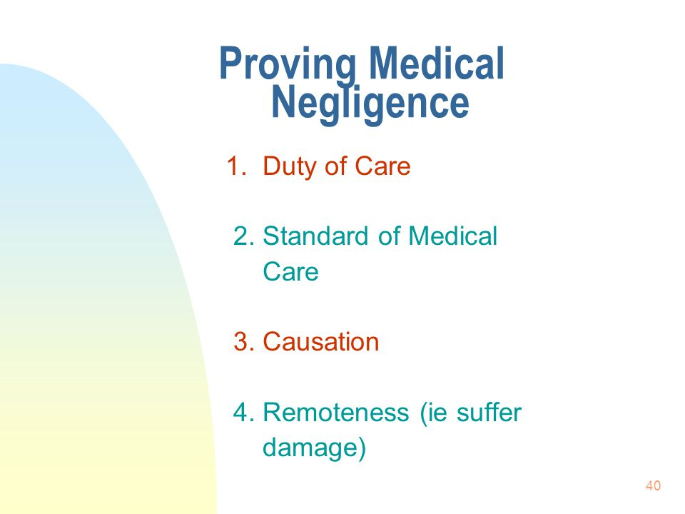 Proving Medical Negligence