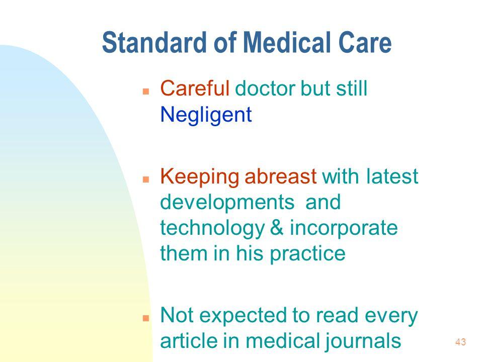 Standard of Medical Care