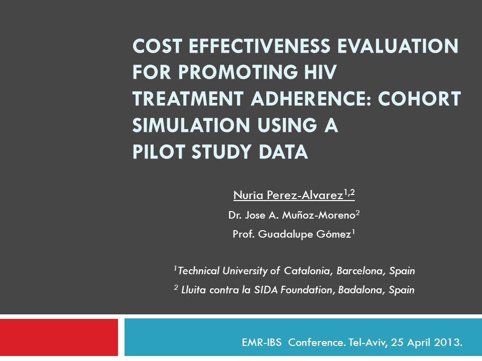 COST EFFECTIVENESS EVALUATION FOR PROMOTING HIV TREATMENT ADHERENCE: COHORT SIMULATION USING A PILOT STUDY DATA