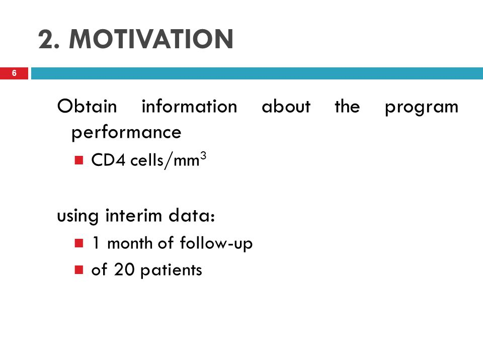 2. MOTIVATION Obtain information about the program performance