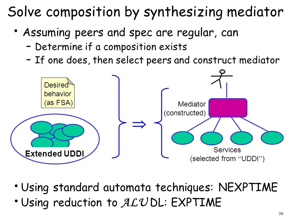 Solve composition by synthesizing mediator